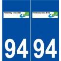 94 Fontenay-sous-Bois logo autocollant plaque stickers ville
