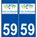 59 Denain logo sticker plate stickers city
