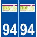 94 L' Hay Les Roses logo sticker plate stickers city