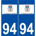94 La Queue-en-Brie logo autocollant plaque stickers ville