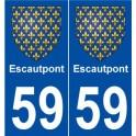 59 Escautpont coat of arms sticker plate stickers city