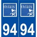 94 Thiais logo sticker plate stickers city