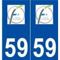59 Fourmies logo sticker plate stickers city