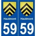 59 Hautmont coat of arms sticker plate stickers city