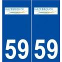 59 Hazebrouck logo autocollant plaque stickers ville