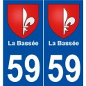 59 The Bassée coat of arms sticker plate stickers city