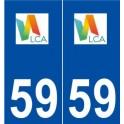 59 La Chapelle-d'Armentières logo autocollant plaque stickers ville
