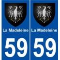 59 La Madeleine blason autocollant plaque stickers ville
