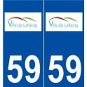 59 Lallaing logo sticker plate stickers city