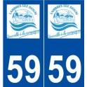 59 Lambres-lez-Douai logo autocollant plaque stickers ville
