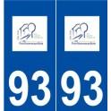 93 Pavillons-sous-Bois logo autocollant plaque stickers ville