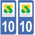 10 Aube autocollant plaque