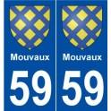 59 Mouvaux blason autocollant plaque stickers ville