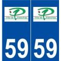 59 Pérenchies logo autocollant plaque stickers ville