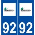 92 Garches logo sticker plate stickers city