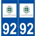 92 La Garenne-Colombes logo autocollant plaque stickers ville