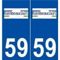 59 Raimbeaucourt logo autocollant plaque stickers ville