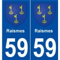 59 Including coat of arms sticker plate stickers city