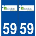 59 Sainghin-en-Weppes logo sticker plate stickers city