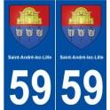 59 Saint-André-lez-Lille coat of arms sticker plate stickers city
