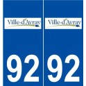92 Ville d'avray logo sticker plate stickers city