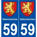 59 Valenciennes blason autocollant plaque stickers ville
