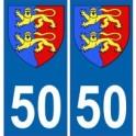 50 manche autocollant plaque blason armoiries stickers département