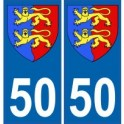 50 manche autocollant plaque blason armoiries stickers département