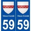 59 Vieux-Condé blason autocollant plaque stickers ville