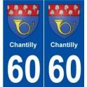 60 Chantilly blason autocollant plaque stickers ville