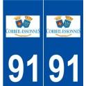 91 Corbeil-Essonnes logo sticker plate stickers city
