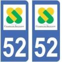 52 Haute-Marne autocollant plaque
