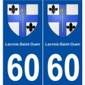60 Lacroix-Saint-Ouen coat of arms sticker plate stickers city