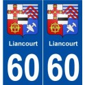 60 Liancourt coat of arms sticker plate stickers city