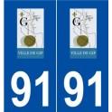 91 Gif-sur-Yvette logo sticker plate stickers city