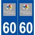 60 Saint-Leu-d Esserent logo sticker plate stickers city