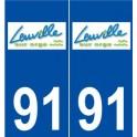 91 Leuville-sur-Orge logo autocollant plaque stickers ville