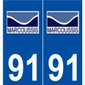 91-Marcoussis logo sticker plate stickers city