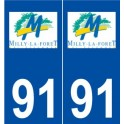 91 Milly-the-Forest-logo sticker plate stickers city