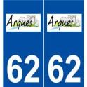 62 Arques logo autocollant plaque stickers ville