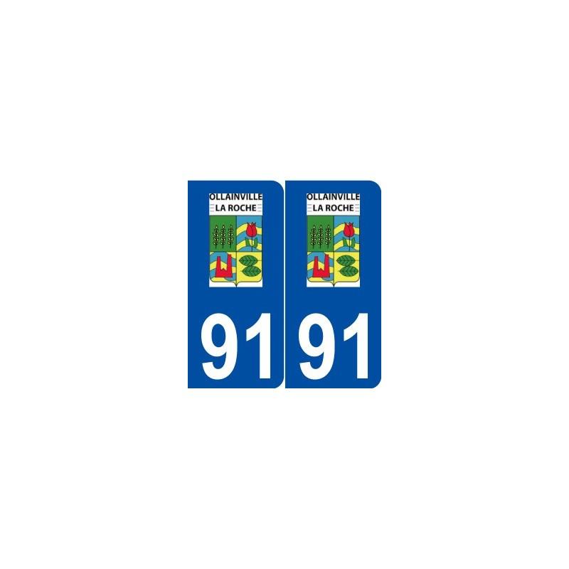91 ollainville logo autocollant plaque immatriculation stickers ville. Black Bedroom Furniture Sets. Home Design Ideas