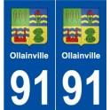 91 Orsay blason autocollant plaque stickers ville