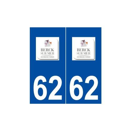 62 berck logo autocollant plaque immatriculation stick. Black Bedroom Furniture Sets. Home Design Ideas