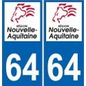 64 Pyrénées-Atlantiques autocollant