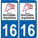 16 Charente autocollant