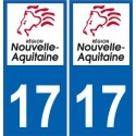 17 Charente-Maritime autocollant