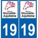 19 Corrèze autocollant