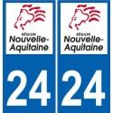 24 Dordogne sticker