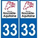33 Gironde autocollant