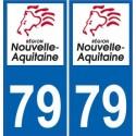 79 Deux-Sèvres autocollant